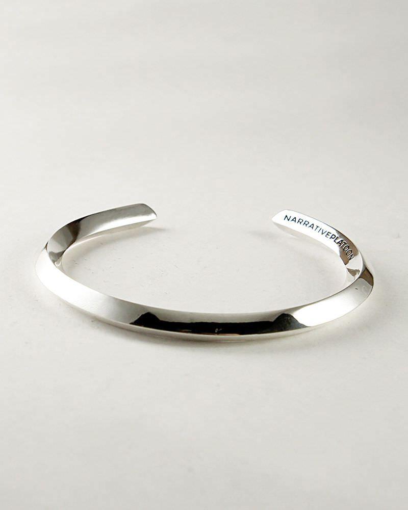 角線バングル silver-925