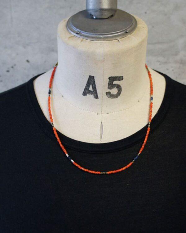 アンティークビーズネックレス 着用イメージ
