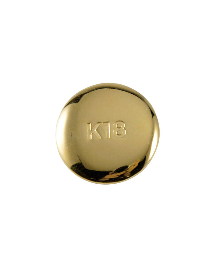 K18ゴールド缶バッジ