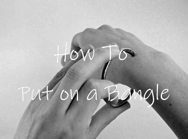 バングルの付け方の基本
