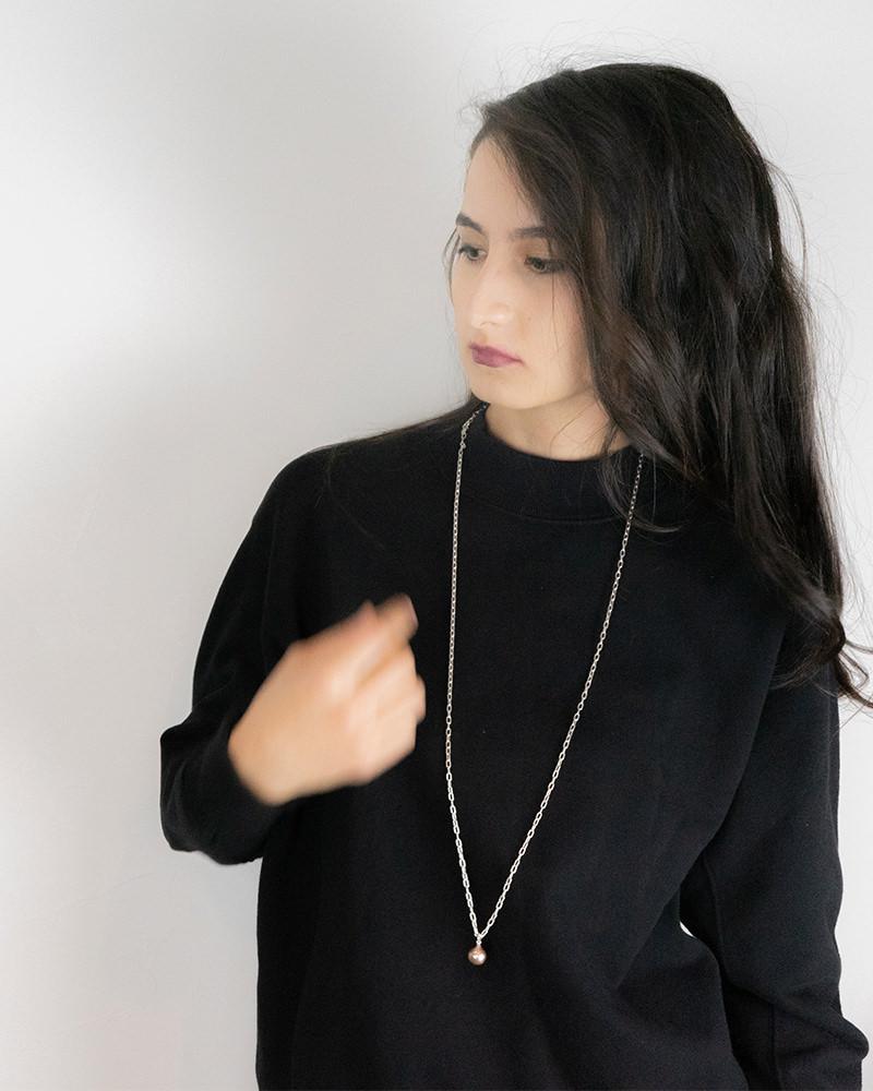 レディース パールトップネックレス 着用イメージ